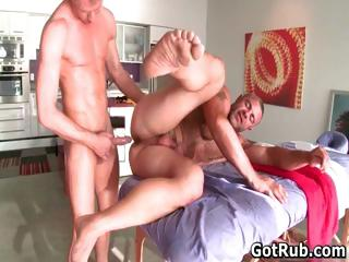 Hot guy get his dazzling body massaged part5