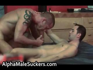 Extreme hardcore gay bonking with an increment of sucking