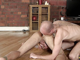 Lucas Davidson gets anally abused together with pissed in! - Lucas Davidson Together with Kiron Manful
