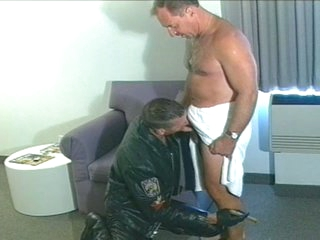 Hot padre sucks with an increment of fucks biker stud