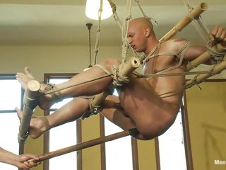 Watch this helpless guy getting his ass whipped by a oversexed cruel executor. See how he is drilling his ass in a pounding anal plaything while he is hang non-native put emphasize ceiling. Gear up he makes him suck that toy! He also banter his cock in jerking with the addition of finally starts hitting him a whip!
