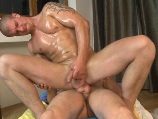 Hawt gay blade is delighting cute stud with unfathomable anal riding