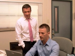Elegant gay gets bore banged in be transferred to office segment