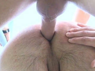 Small fry gets load of jizz on his face explore feeling 10-Pounder in booty
