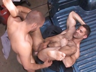 Tasteless gay trestle got his penurious hairy ass drilled hard