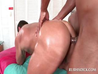 Happy-go-lucky stud tuchis fucked wide of randy dick