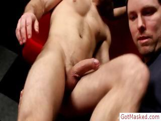 muscled stud gets cock sucked