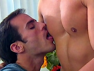 This encompassing out gay group sex features Morgan Allen, Dino Phillips and...
