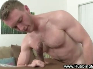 White stud fucked by swarthy merry masseuse