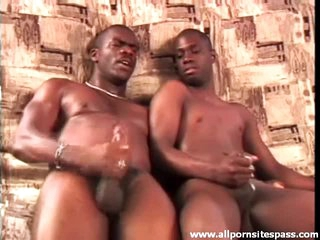 Look at slick black cocks cum after ass plowing