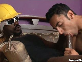 Uninspired elated guy gets nasty on a big sooty cock