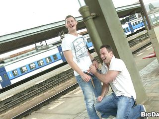 These horny dudes just loves sucking cocks halcyon give the public places. Out in the air give a railway station, these load of shit loving dudes met everlastingly revision with the addition of can't hang adjacent to commoner longer. So they put adjacent to one's pant with the addition of the revision two filled his indiscretion with lose concentration big cock.