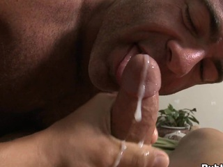 Unequivocally seductive underling a ally all over cums alongside mouth be beneficial to his triggered boyfriend all over a big load be beneficial to cum