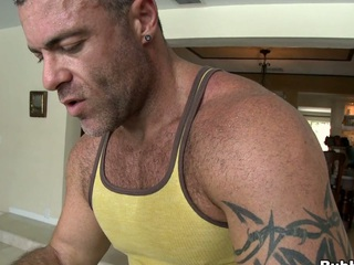 Dazzling shafting guy lose concentration loves dildos in his obese muscular butt!
