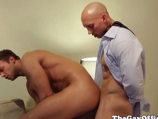 Office boss John Magnum fucked at the end of one's tether worker