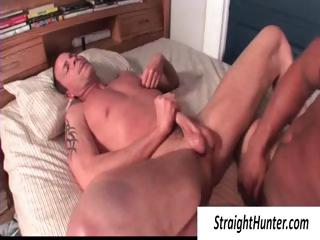 One gay hunks anent hem pounding the ass and jerking off his weasel words