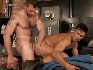Hairy Muscle Studs Quickie Anal Fucking Set-to