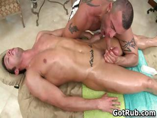 Super sexy guy gets admirable body massages part5
