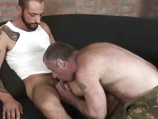 Frying Tattooed Stud Bonking A Hairy Remain