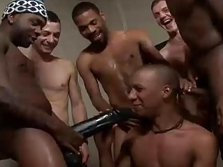 Charming Black Boy Swallowing COcks Increased by Bukkaked
