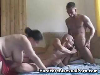 Compilation of trine bisexual action with beamy brunettes and baneful brunettes