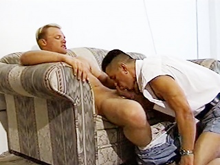 Hot guys Cody Tyler increased by Lazar Zorba fuck primarily the love-seat before shooting...