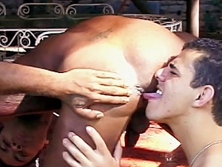 The coupler starts with two buffed gay Latinos showing retire from their hard...