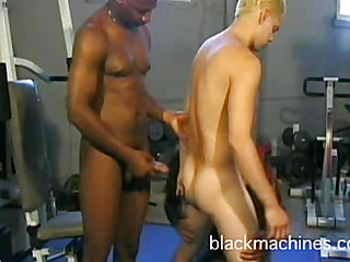Ebony blissful athletes and white adherent group-fuck