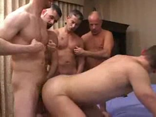 Gays partying helter-skelter anal penetration