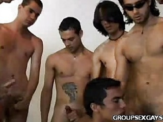 Latino Uncaring Ass Orgy