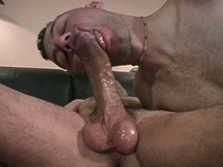Sexy gay studs swell up and fuck on bed