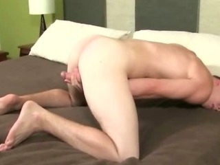 Delicious young sexy student opens his wings wide open