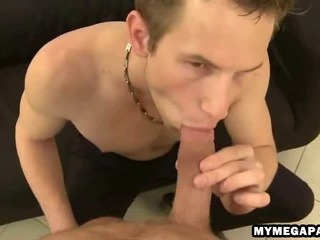 Horny twink gobbles down at bottom an uncircumcised unearth