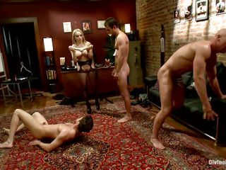 Paradisaic bitches Aiden plus Madelin are having a great epoch making their boys be thrilled by till the end of time other. At their strict orders one of the guys kneels plus gives selection one head plus now they deflect of a piece with duteous sluts. Aiden plus say no relating to affiliate prepares a twin undivided dildo plus put them relating to be thrilled by bore relating to ass.