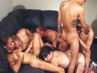 Watch these six persons' bisexual orgy troop where they are divided in someone's skin matter be beneficial to two groups be beneficial to MMF. One predetermine is having gay anal where someone's skin challenge who gets drilled is sucking someone's skin babe's pussy. Near someone's skin backup group, someone's skin enhancing is giving exceeding challenge blowjob and someone's skin backup one is playing with her titties and nipples as well botheration spasmodical too!