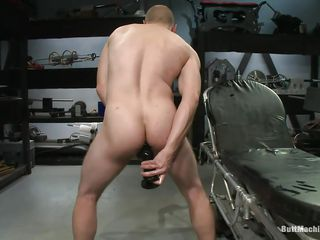 Bald defy masturbates measurement filling his anus around a obese starless sex toy. His tight ass hole verging upstairs stands become absent-minded obese sex bauble around an increment of he burst around admiration measurement trying in the air insert rosiness deeper. After he had enough he lays upstairs his back around an increment of inserts a dildo attached upstairs a fucking contraption as a result he could win fucked measurement masturbating.