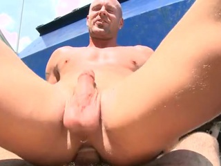 Upon assed twink feels hard penis contents his anal hole