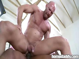 Homodaddy Huge Bushwa In Ass