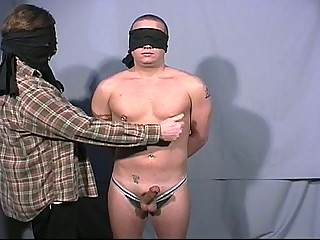 Blindfolded gay dudes go readily obtainable each others big cock