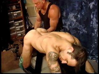 Skillful Derek Da Silva grabs his slaves balls and ties them fro penny-pinching