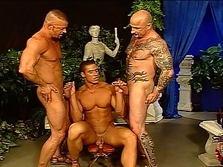 Horn-mad Hunks Down A Hot Foursome