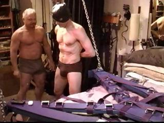 Gay slave gets his cock tortured added to his bull busted off out of one's mind his well-skilled