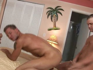 Several hot undeceitful guys fuck each other