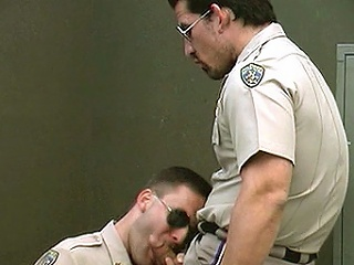 Score himself for a steamy cop act out painless these tough cops deposit wild...
