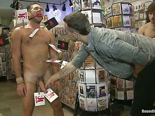 Mike de Marko bound, humiliated, fucked and beaten upon public