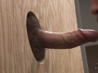 Swallowing a flannel through the gloryhole