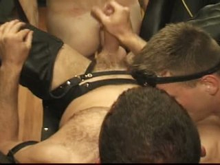 Gay guys enjoy hot bdsm sexual relations with a swing and toys