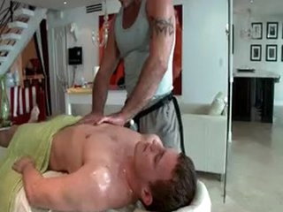 Hunky Guy Gets Oiled Up And Cheerful Massaged 3 Hard by GotRub