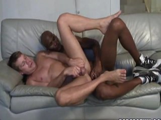Horny mixed race performance