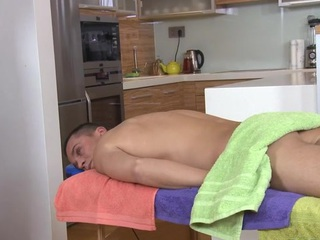 Gay gay blade is engulfing ramrod hungrily during massage